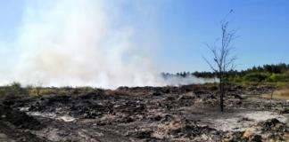 Вблизи Балаклеи на Харьковщине горит свалка