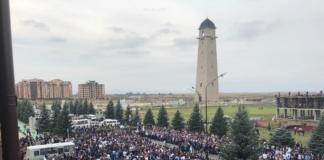 Протестующие в Ингушетии