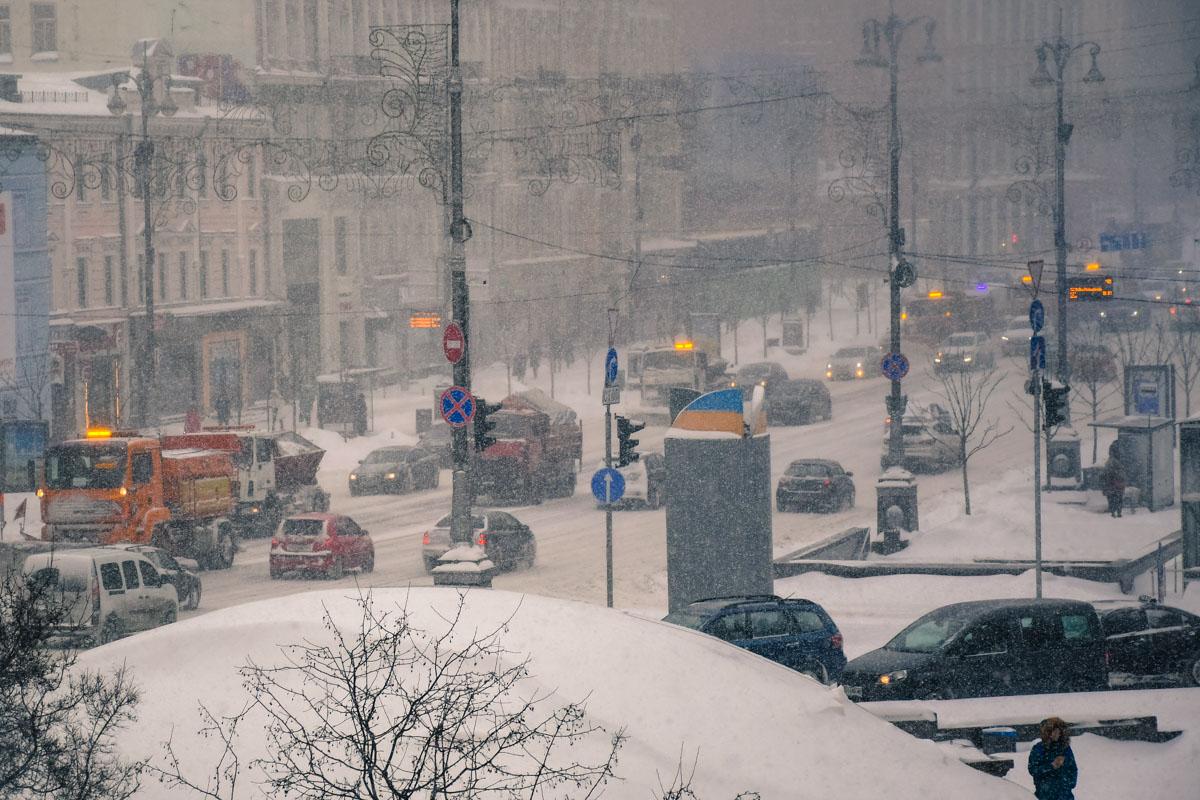 снегопад Кие