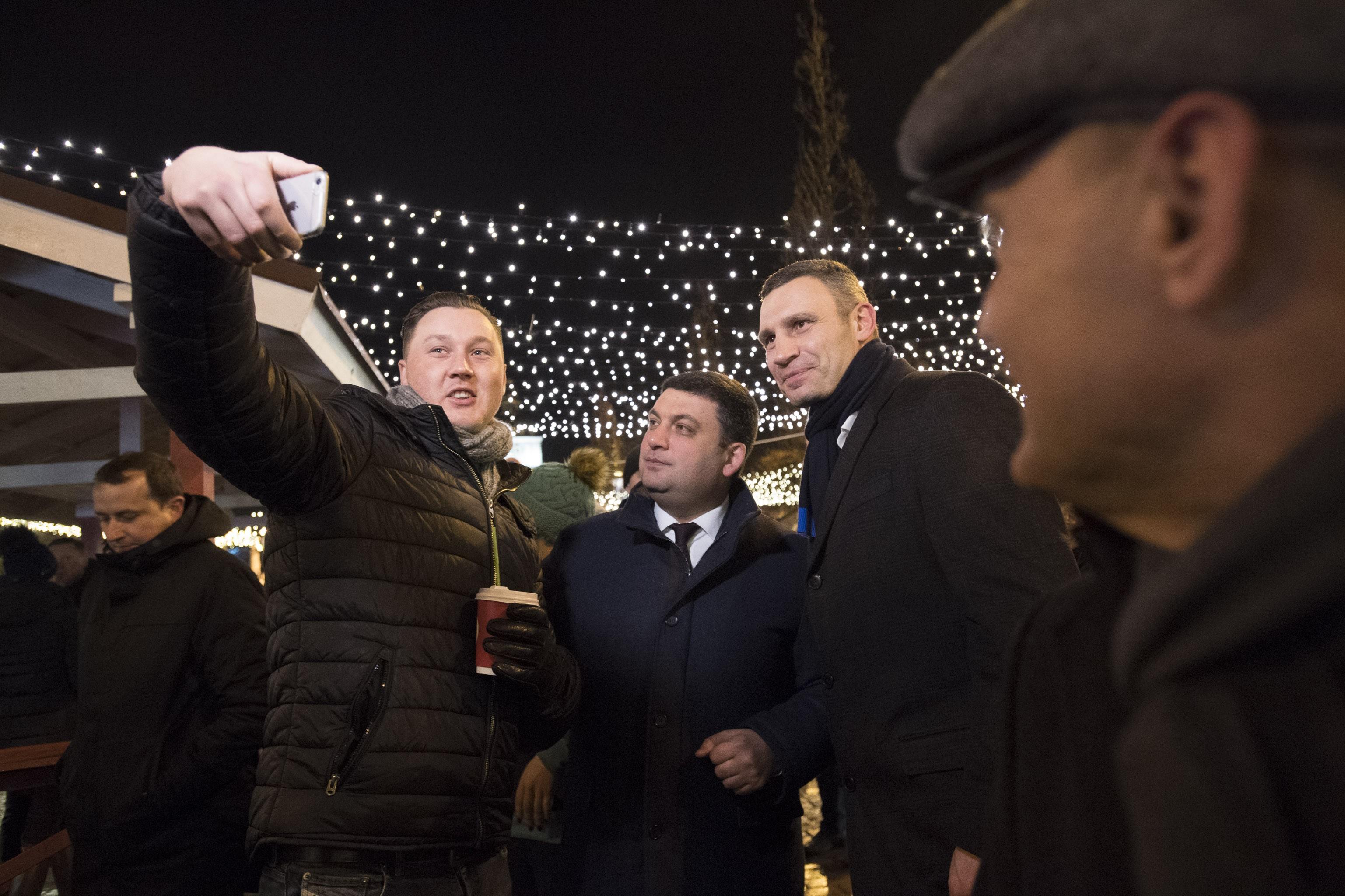 Поздравление киевлян с новым годом от кличко