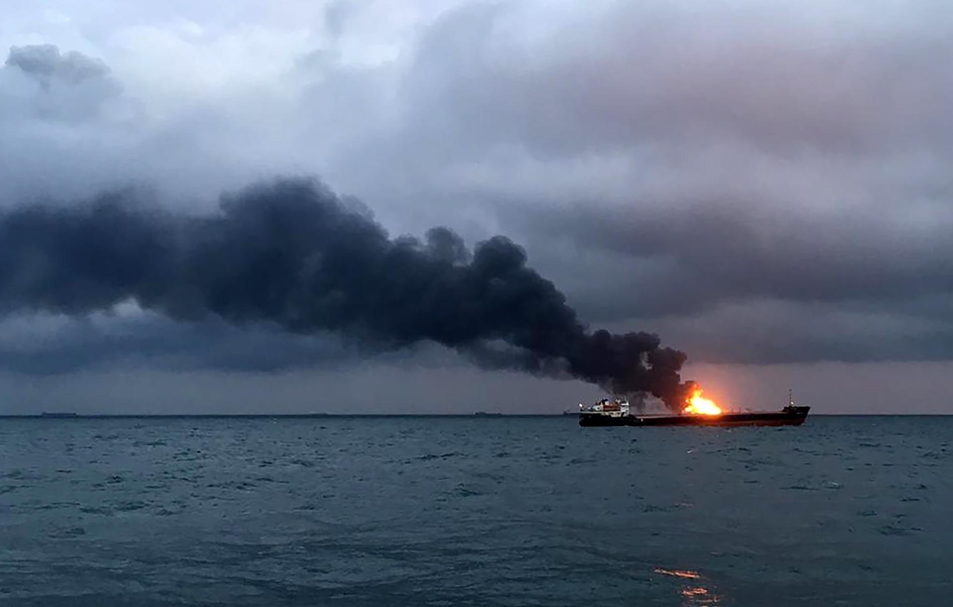 Керченский пролив пожар