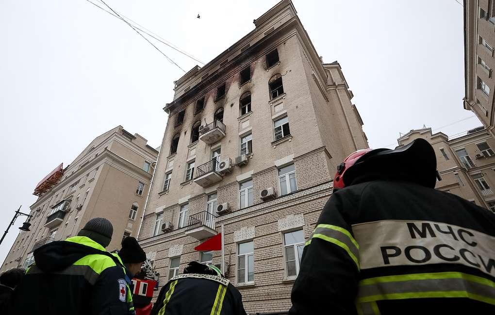 пожар Москва