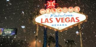 снегопад в Лас-Вегасе