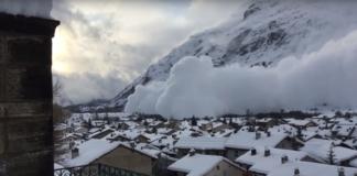 лавина Альпы