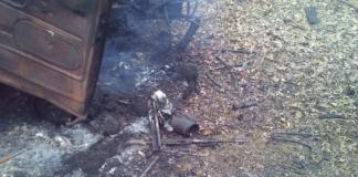 Под Авдеевкой авто украинских военных подорвалось на мине
