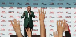Реджеп Эрдоган на митинге
