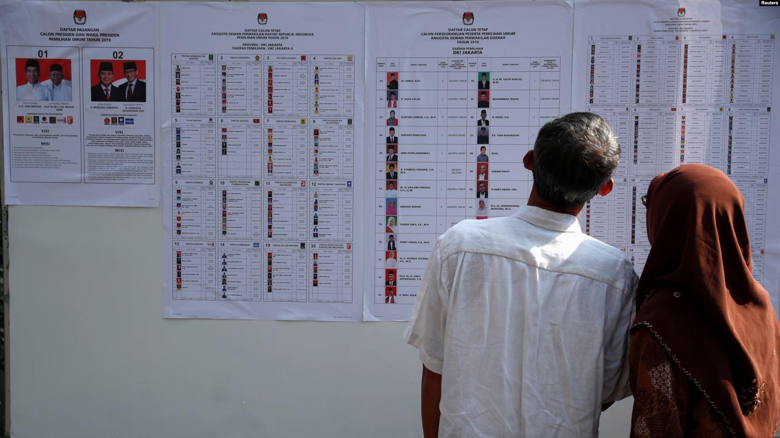 Индонезия выборы 2019