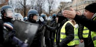 желтые жилеты полиция