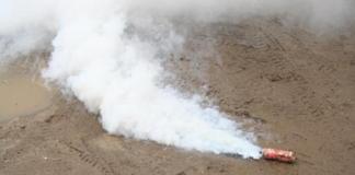 Под Николаевом на территорию арсенала ВМС Украины бросили дымовую шашку