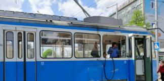 У Вінниці зіткнулися тролейбус і трамвай