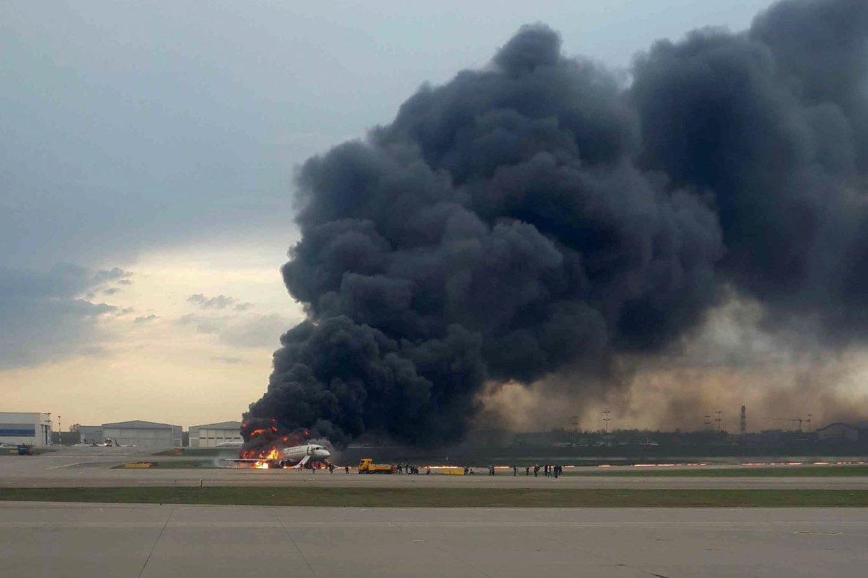 пожар в Шереметьево