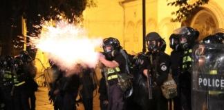поліція під час акцій протесту у Тбілісі