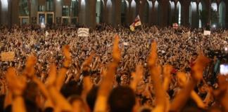 протесты Тбилиси