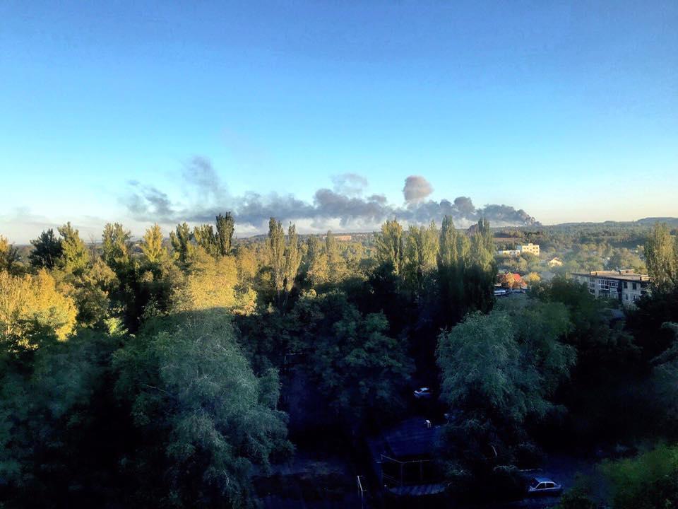 В Донецке из-за пожара началась эвакуация местных жителей