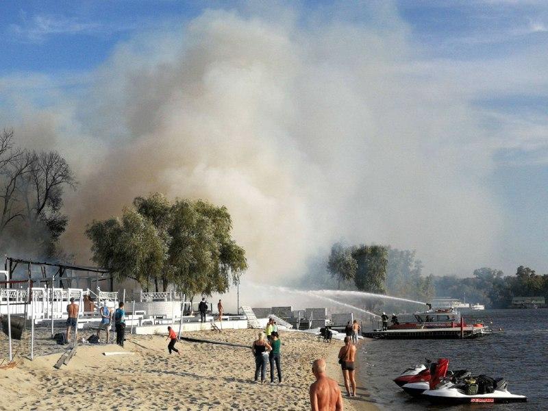 пожар на Гидропарке