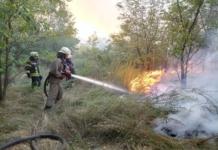 Днепр пожар