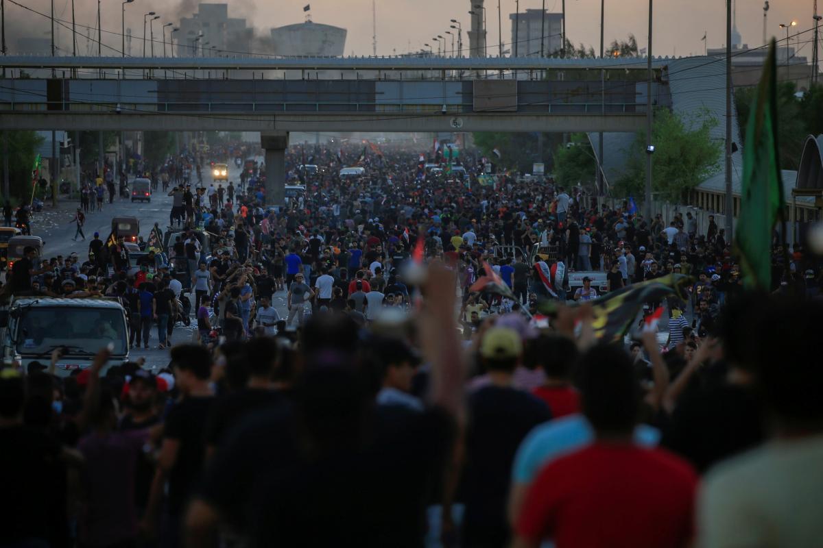протесты Ирак
