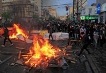 Чили протесты