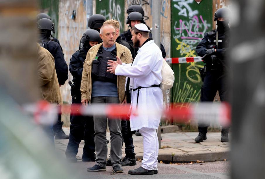 Германия стрельба возле синагоги
