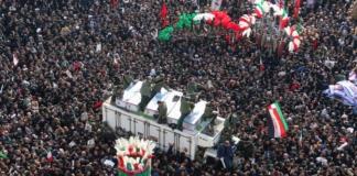 Кількість загиблих у тисняві під час прощання з Сулеймані досягла 40 осіб