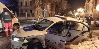 В Полтаве иностранец на Kia врезался в авто полиции