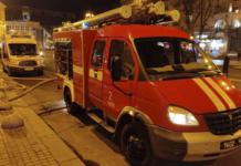 """В Киеве горел ресторан """"Шато"""" на Крещатике, клиентов эвакуировали в пледах"""