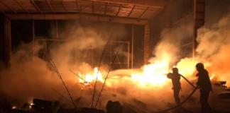 В Киеве ночью горело железнодорожное ДЕПО