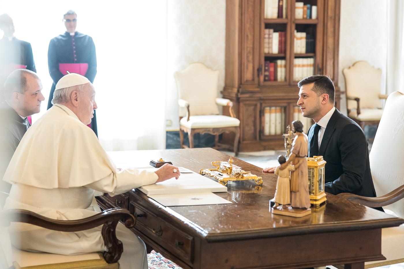 Зеленский и Папа Римский