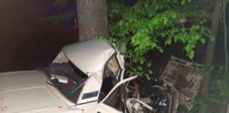 На Київщині легковик влетів у дерево, троє людей загинули
