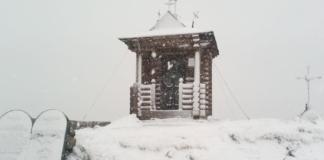 В Карпатах за неделю до лета выпал снег (ФОТО)