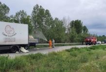 Под Харьковом в результате ДТП на дорогу вылилась соляная кислота (ФОТО)