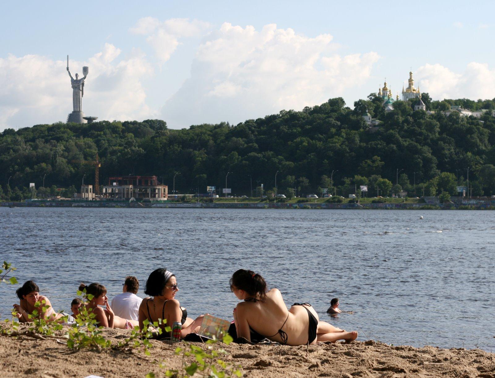 Киев жара