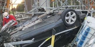 В Эстонии непристегнутый украинец на огромной скорости врезался в мост и погиб (ФОТО)