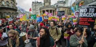 В Лондоне более 20 полицейских пострадали в ходе антирасистских протестов
