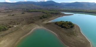 Под Севастополем обмелело Чернореченское водохранилище (ФОТО)