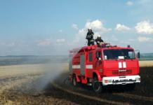 В двух областях Украины пожар уничтожил поля с пшеницей