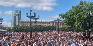 У Хабаровську другий день тривають масові мітинги: вимагають звільнити арештованого губернатора
