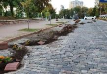 В Киеве пьяный водитель Lexus снес клумбы на Аллее Героев Небесной Сотни (ВИДЕО)