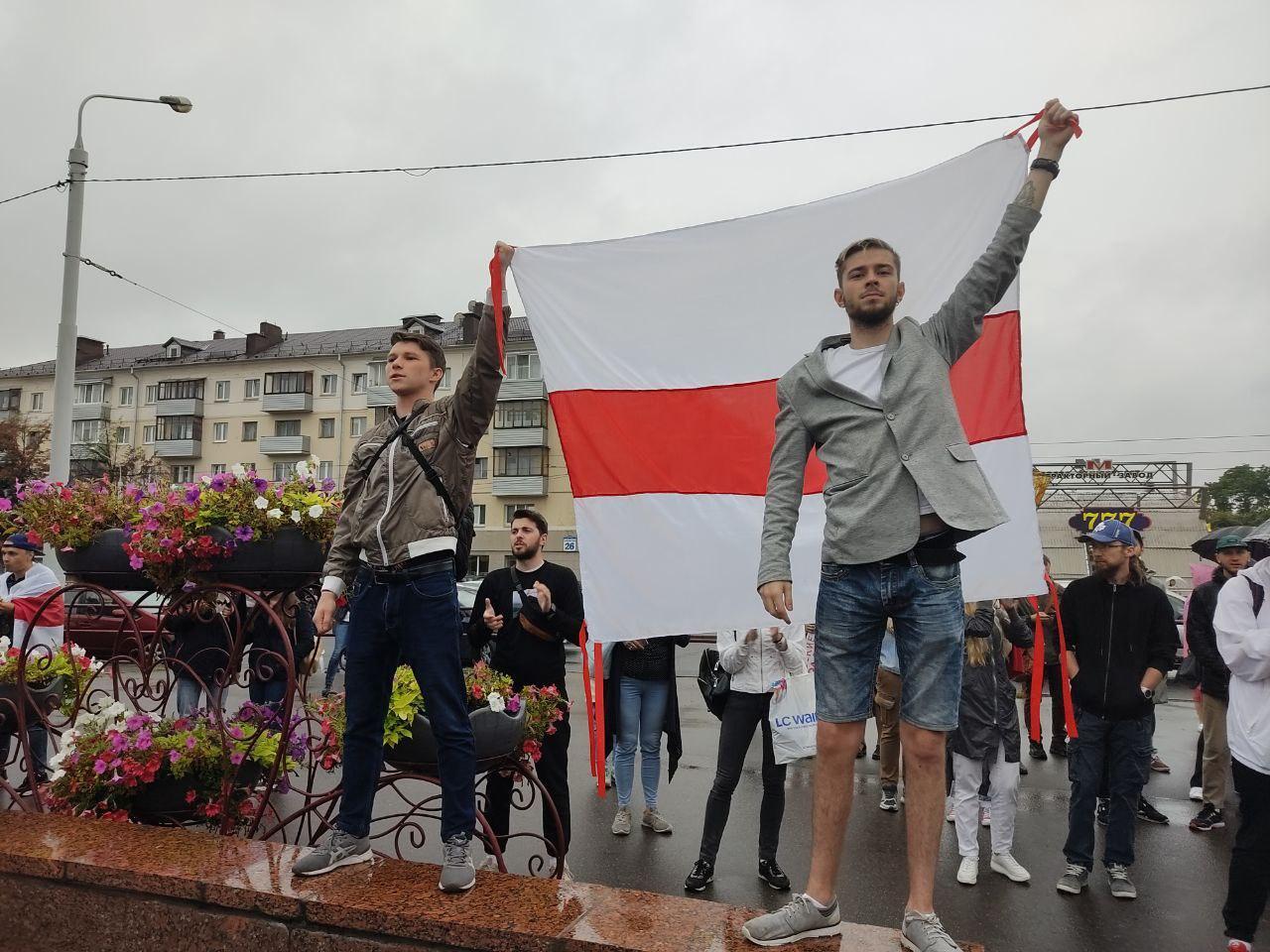 ОМОН разогнал митинг у Минского тракторного завода