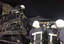Под Николаевом два человека сгорели в кабине грузовика, попавшего в ДТП (ВИДЕО)