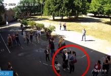 В Черкассах во дворе школы матери подрались из-за отказа сдавать деньги (ВИДЕО)