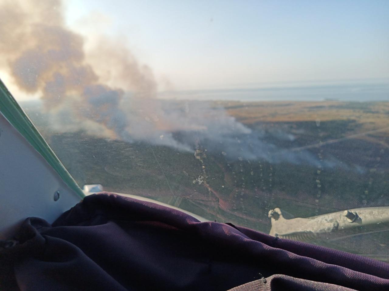 Під час військових навчань на Херсонщині загорівся полігон