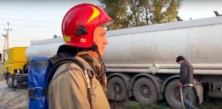 В Черкассах вылились сотни тонн азотных удобрений (ВИДЕО)