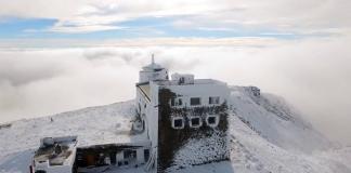 В Карпатах в середине октября выпал снег