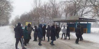 На Харьковщине местные жители перекрыли дорогу из-за отсутствия отопления