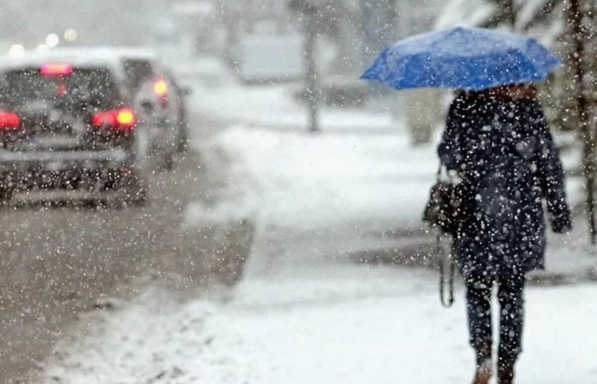 штормовое предупреждение снег