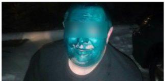 Под Днепром таксисты облили клиента зеленкой (ВИДЕО)