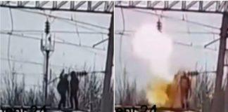В Одессе подросток получил удар током после того, как на спор взялся за высоковольтную линию (ВИДЕО)