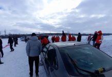 В Беларуси милиция задержала два десятка лыжников с бело-красными флагами